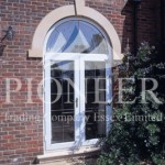 French door with arch effect front view