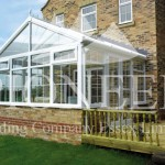 Gable conservatory with decking