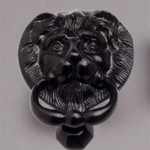 Lion knocker black