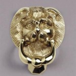 Lion knocker gold