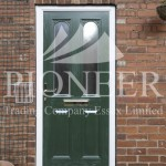 Green uPVC door