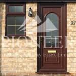 uPVC wooden style door