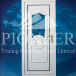 White uPVC door front view