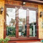Bi-fold door front view