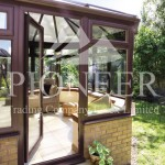 Victorian Conservatories door brown