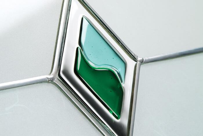 Green Diamond Decorative Glass